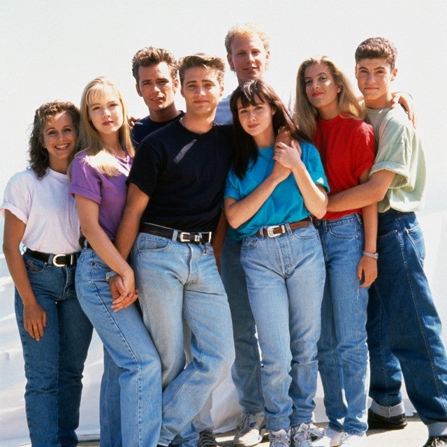 Beverly Hills, 90210 cast in 1991