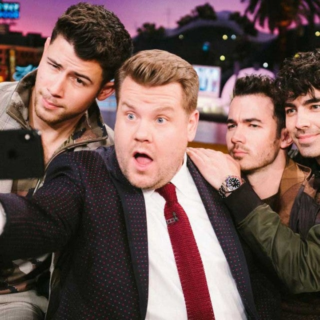 The Jonas Brothers join James Corden on 'The Late Late Show'