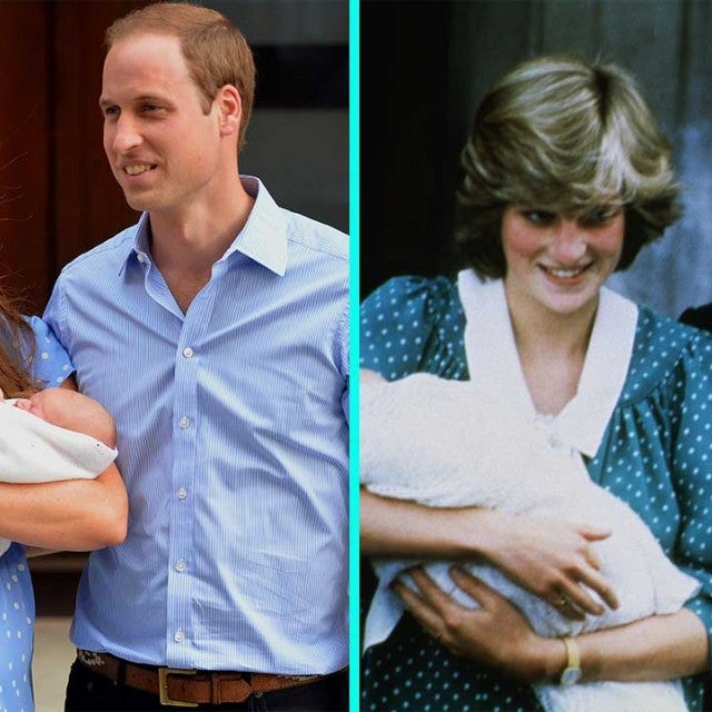 Prince William and Kate Middleton and Princess Diana and Prince Charles