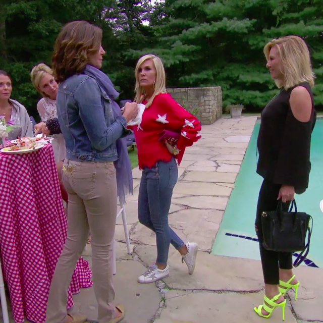 Luann de Lesseps and Ramona Singer face off on 'The Real Housewives of New York City.'