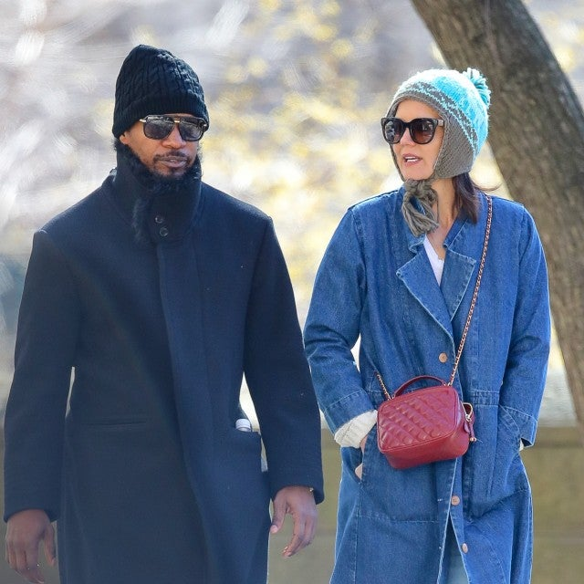 Katie Holmes and Jamie Foxx taking a romantic stroll by Central Park on March 26, 2019.