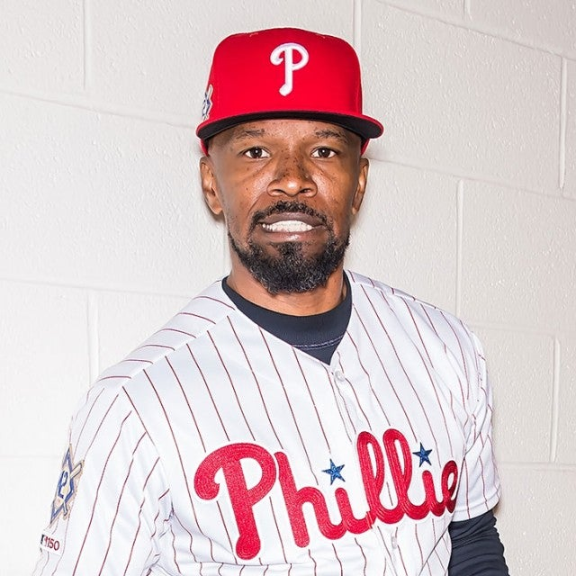 Jamie Foxx at phillies game