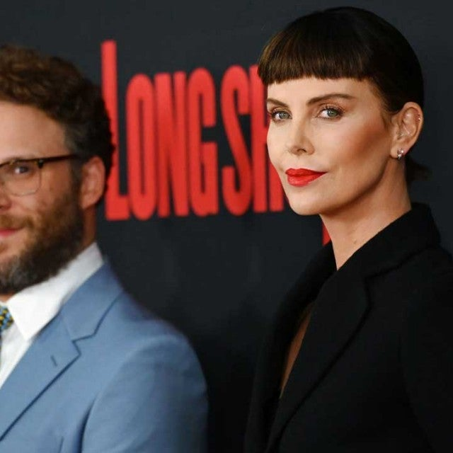 Charlize Theron and Seth Rogen at the 'Long Shot' premiere in New York on April 30
