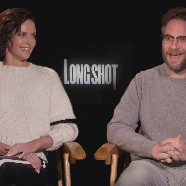 'Long Shot' Stars Seth Rogen and Charlize Theron Talk Filming Sexy Scene (Exclusive)