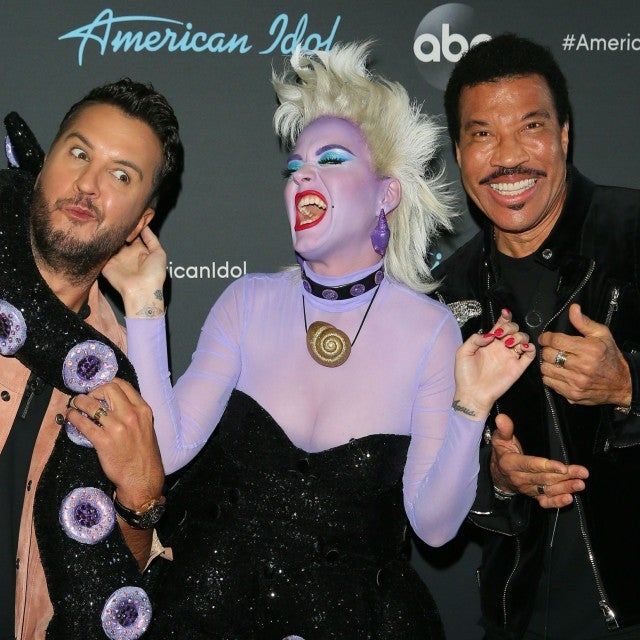 Luke Bryan, Katy Perry and Lionel Richie at the taping of American Idol on April 21