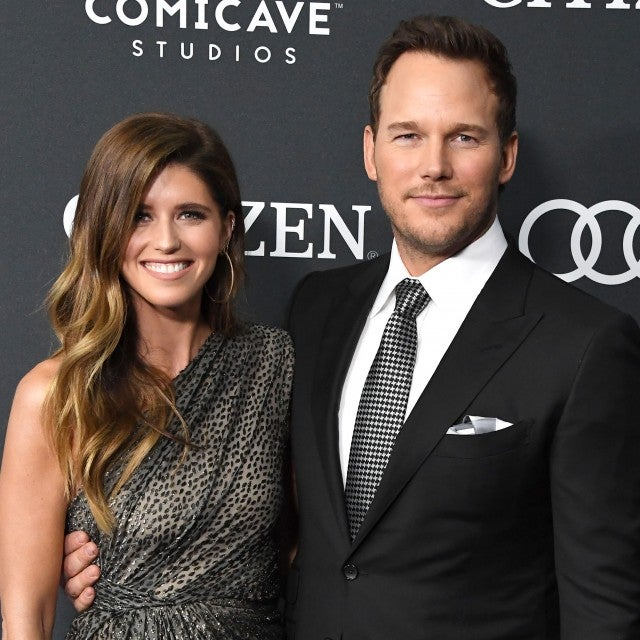 Chris Pratt and fiancee at endgame premiere