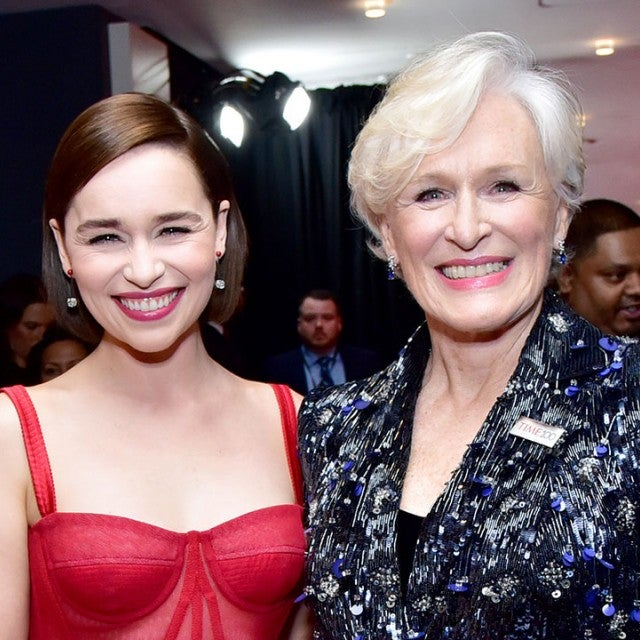 Emilia Clarke and Glenn Close at time 100 gala