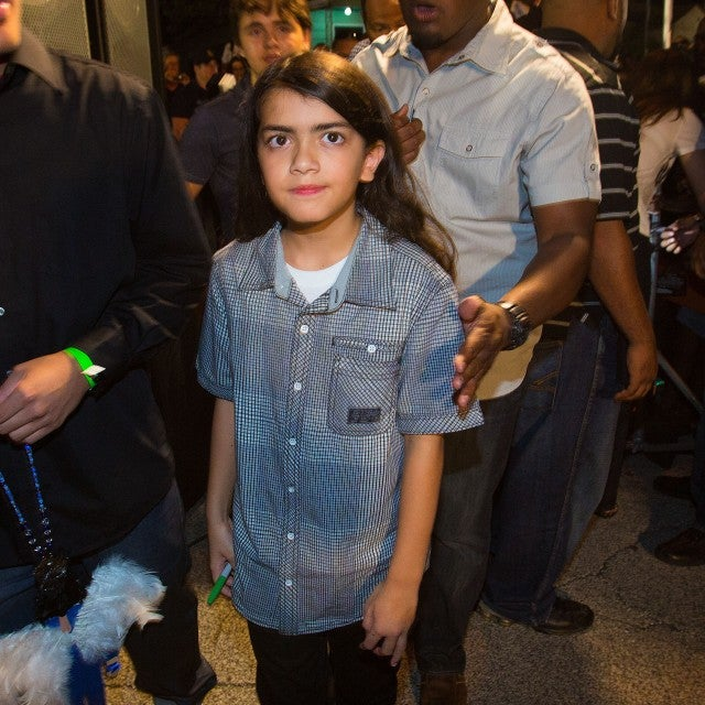 Blanket is seen at Childhood Home of Michael Jackson on August 29, 2012 in Gary, Indiana.