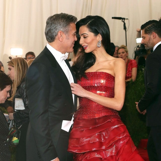 "George Clooney and Amal Clooney attend ""China: Through the Looking Glass"", the 2015 Costume Institute Gala, at Metropolitan Museum of Art on May 4, 2015 in New York City."
