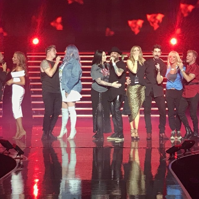 Backstreet Boys serenade their wives in Las Vegas.