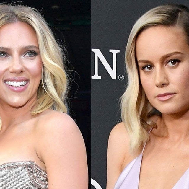 Scarlett Johansson and Brie Larson at Avengers premiere 1280