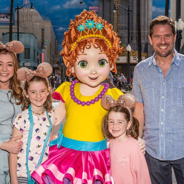 Alyson Hannigan and family at disney