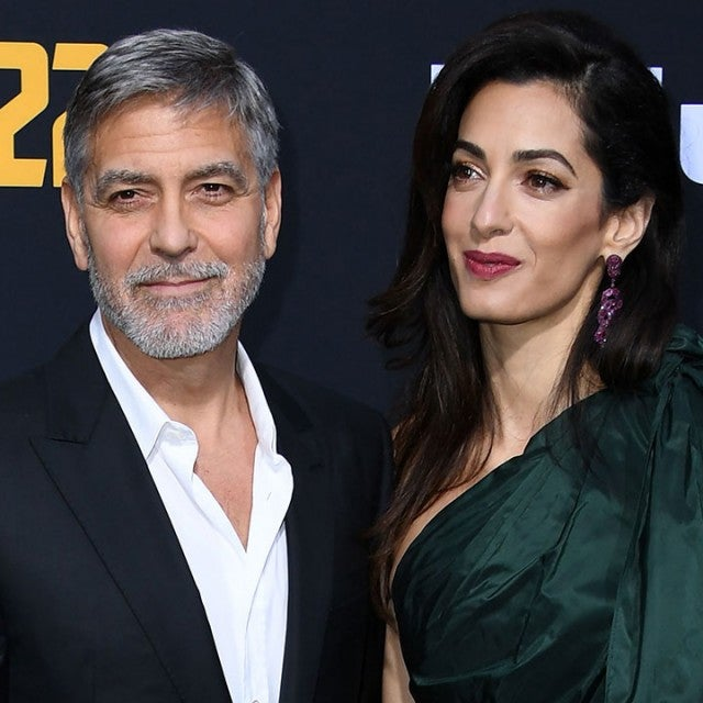George Clooney and Amal Clooney at catch-22 premiere