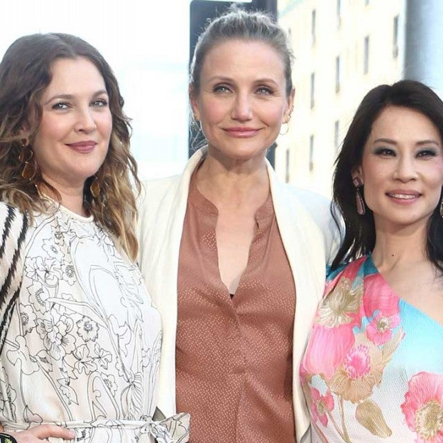 Drew Barrymore, Cameron Diaz, and Lucy Liu at the Hollywood Walk of Fame ceremony on May 1.