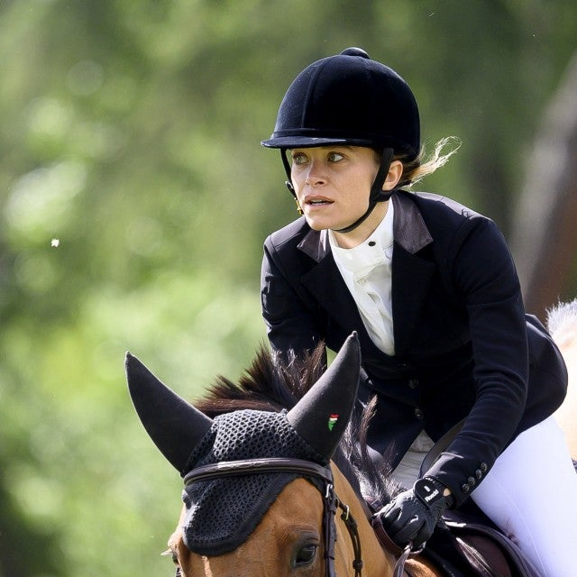 Mary-Kate Olsen competes during Madrid-Longines Champions, the International Global Champions Tour at Club de Campo Villa de Madrid on May 17, 2019 in Madrid, Spain.