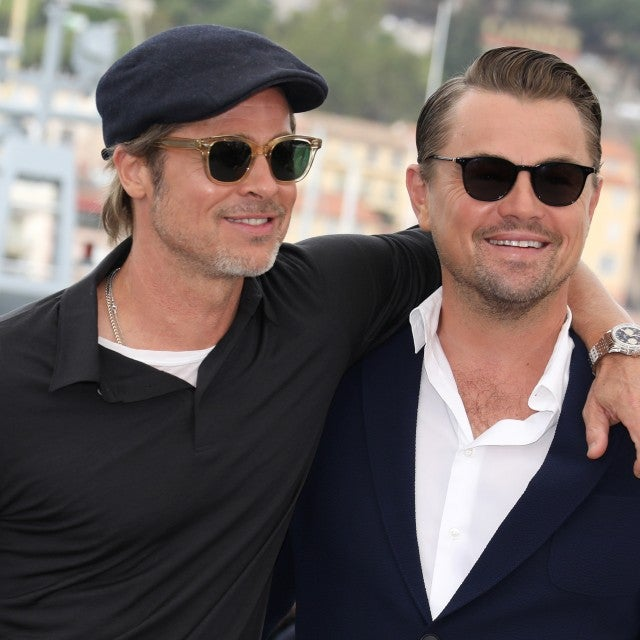 "Brad Pitt and Leonardo DiCaprio attend the photocall for ""Once Upon A Time In Hollywood"" during the 72nd annual Cannes Film Festival on May 22, 2019 in Cannes, France."