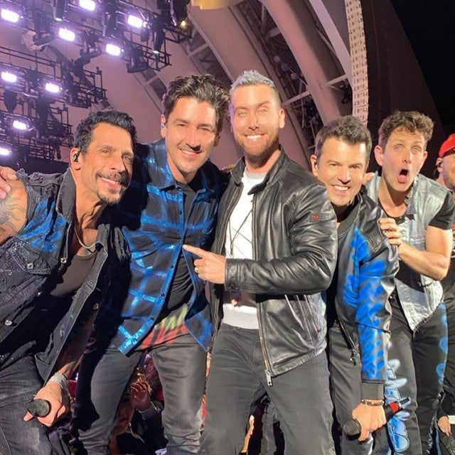 New Kids on the Block and Lance Bass at Hollywood Bowl