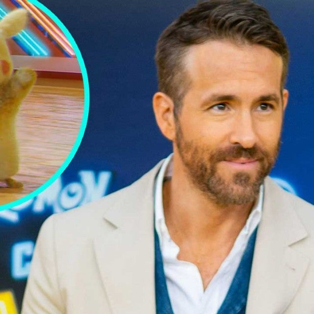 Ryan Reynolds and Detective Pikachu (inset)