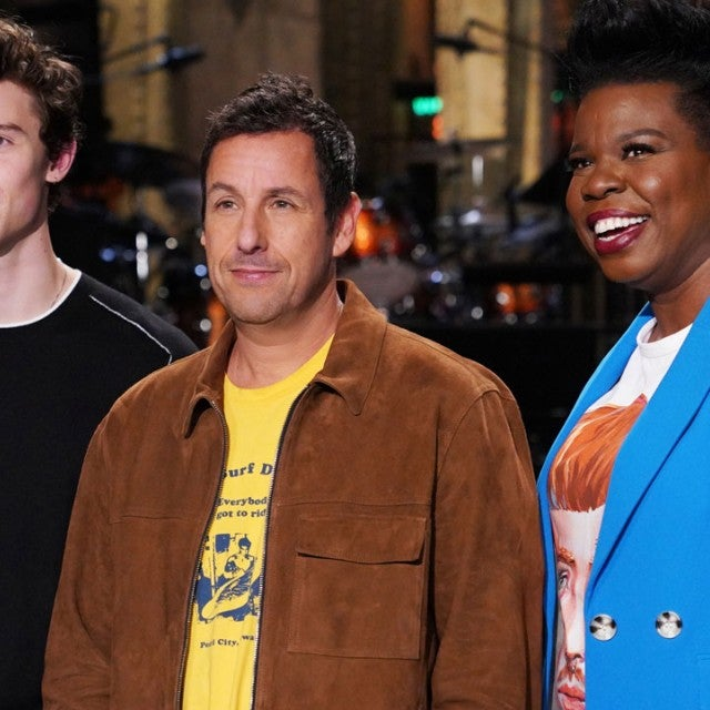 Shawn Mendes, Adam Sandler and Leslie Jones on the 'Saturday Night Live' stage