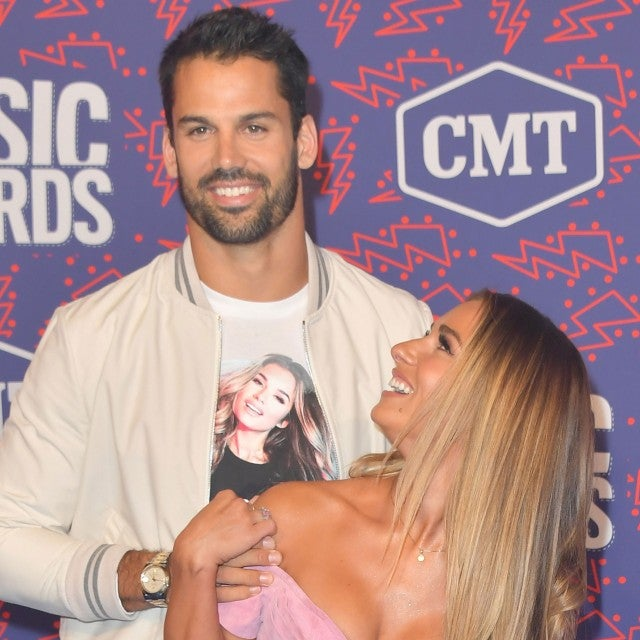Eric Decker and Jessie James Decker at the 2019 CMT Music Awards