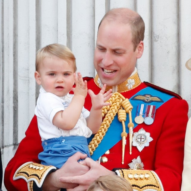 Prince Louis and Prince William at trooping the colour