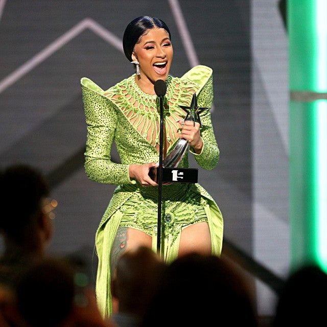 Cardi B accepts the Album of the Year award for 'Invasion of Privacy'