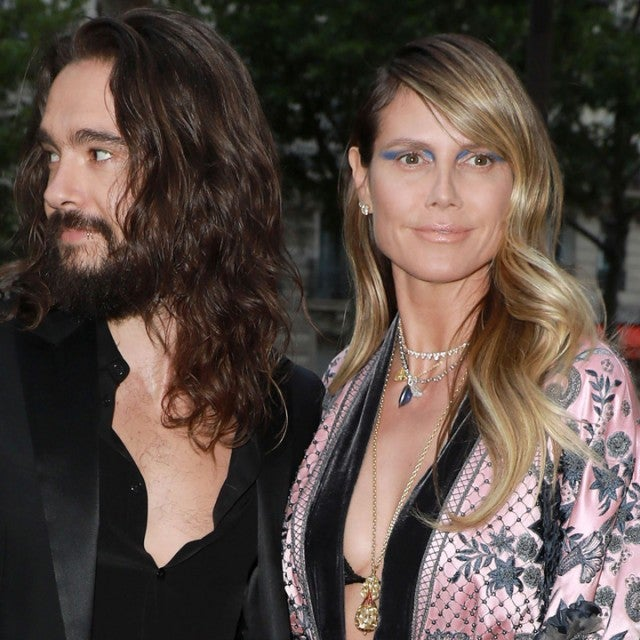 Heidi Klum and Tom Kaulitz at the Amfar Gala at the Peninsula Hotel in Paris on June 30.