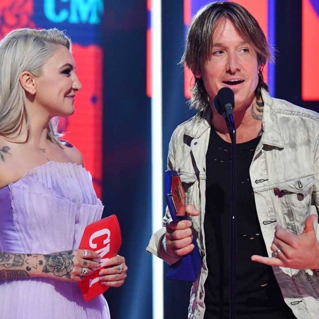Julia Michaels and Keith Urban at the CMT Music Awards 2019