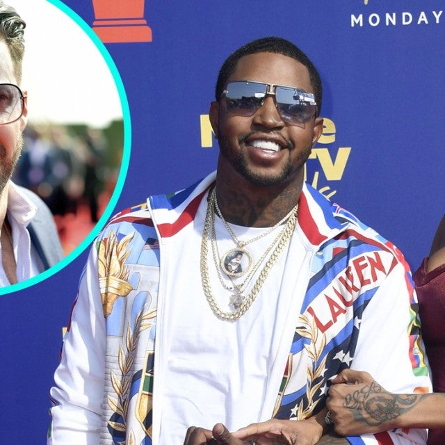 Lil Scrappy and Bambi at the 2019 MTV Movie & TV Awards With Johnny Bananas (inset)