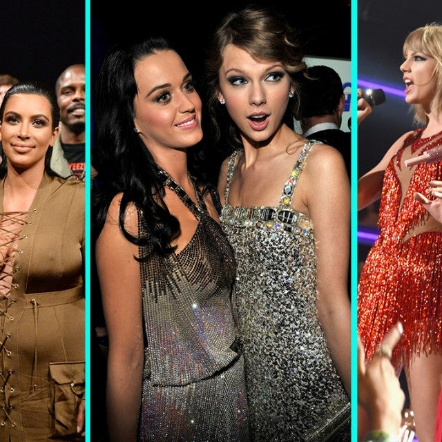 Taylor Swift with Kim Kardashian, Katy Perry and Nicki Minaj