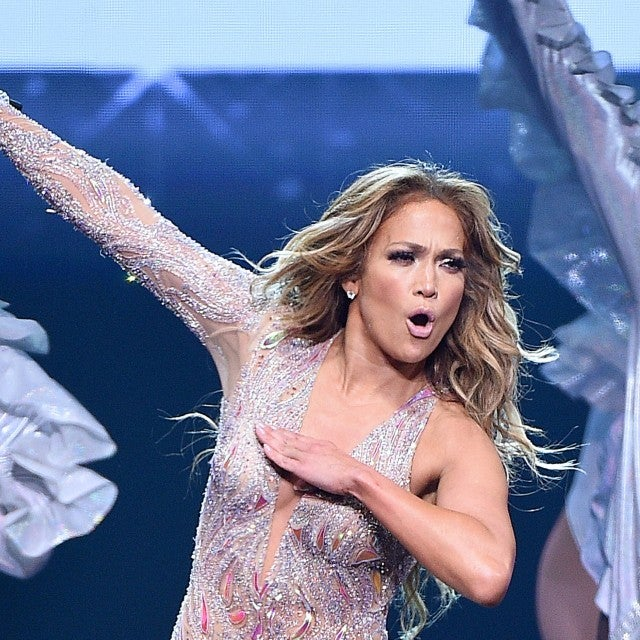 Jennifer Lopez onstage during the It's My Party Tour at Madison Square Garden