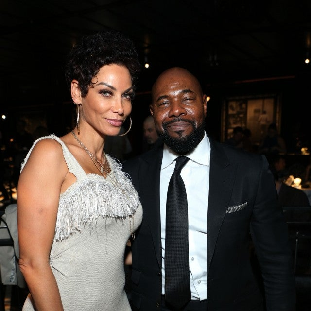 "Director & Executive Producer Antoine Fuqua (R) and Nicole Murphy attends the after party for HBO's ""What's My Name: Muhammad Ali"" at Regal Cinemas L.A. LIVE Stadium 14 on May 08, 2019 in Los Angeles, California."