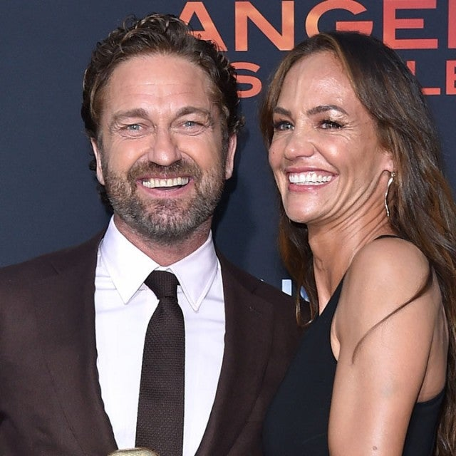 "Gerard Butler and Morgan Brown at the LA Premiere of Lionsgate's ""Angel Has Fallen"""