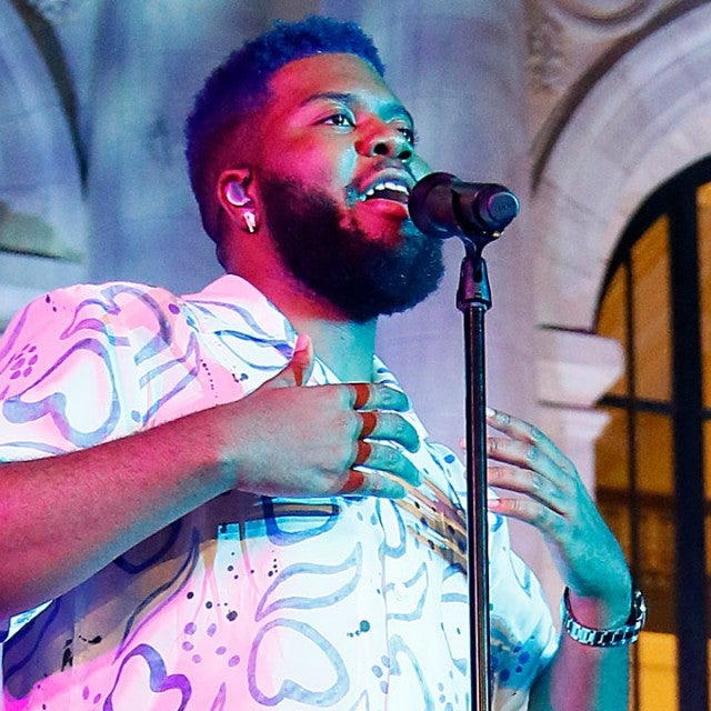 "Khalid performs on stage at Apple Music's ""Up Next Live"" in Washington, DC, on Aug. 24."