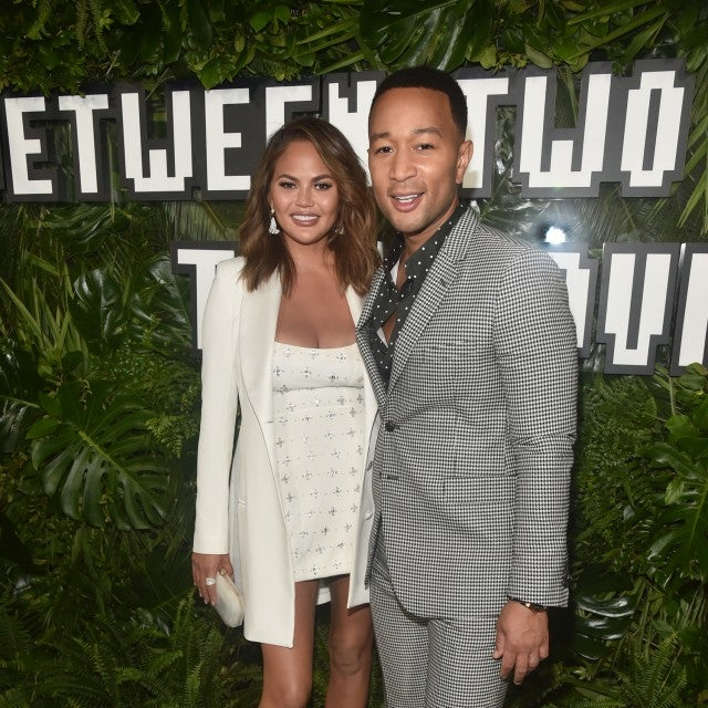 "Chrissy Teigen and John Legend at the premiere of Netflix's ""Between Two Ferns: The Movie"""