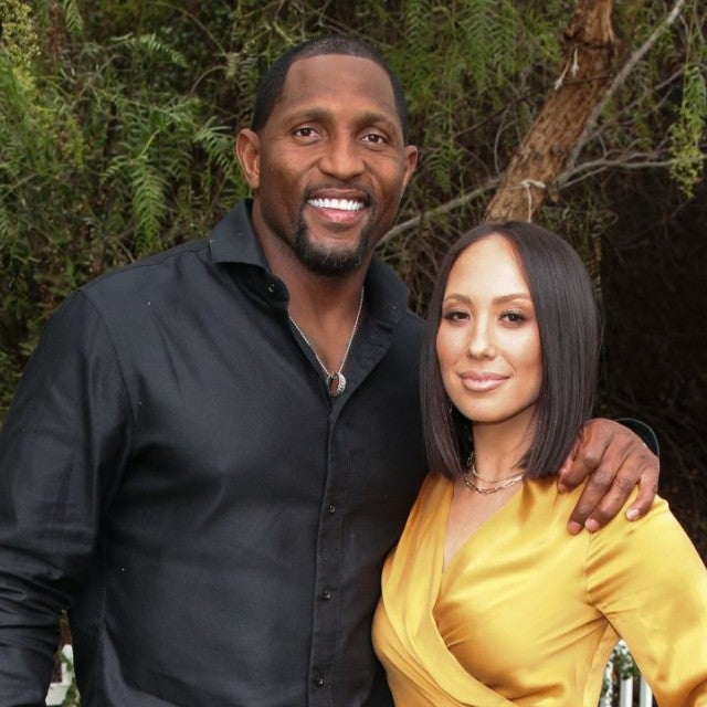 Ray Lewis and Cheryl Burke