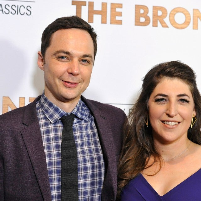 "Jim Parsons and Mayim Bialik attend the premiere of Sony Pictures Classics' ""The Bronze"" at the Regent Theater on March 7, 2016 in Los Angeles, California."