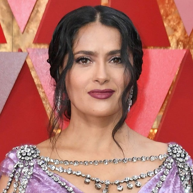 Salma Hayek Pinault at the 90th Annual Academy Awards