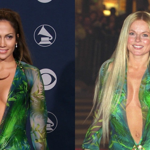 Jennifer Lopez Geri Halliwell Versace Dress