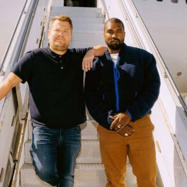 James Corden and Kanye West