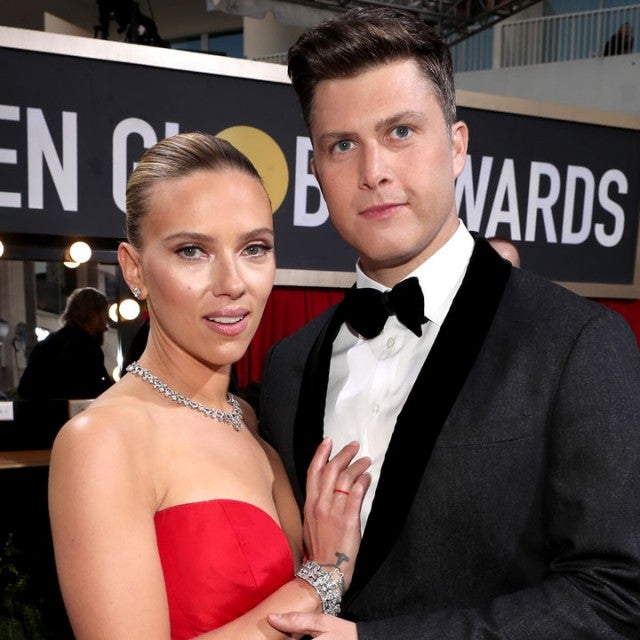 Scarlett Johansson and Colin Jost at the 77th Annual Golden Globe Awards