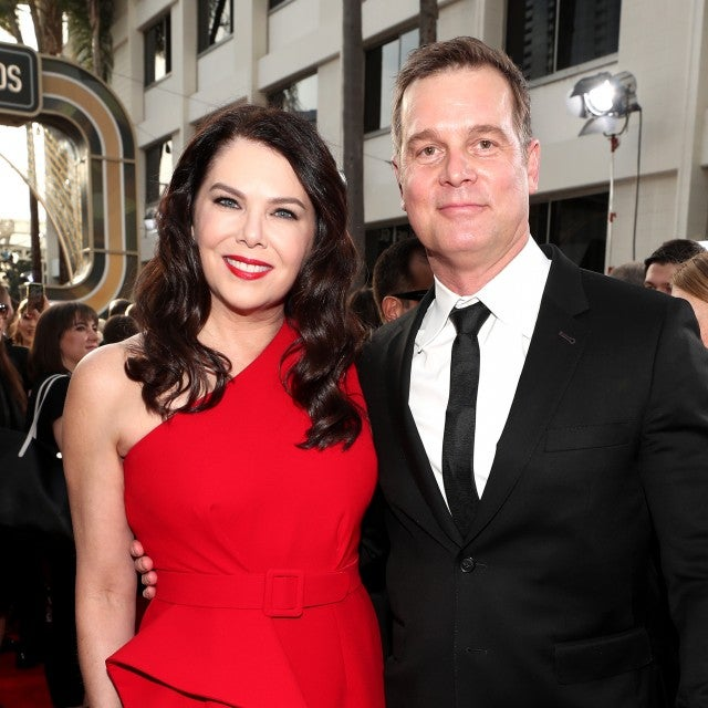 Lauren Graham and Peter Krause at 2020 golden globes