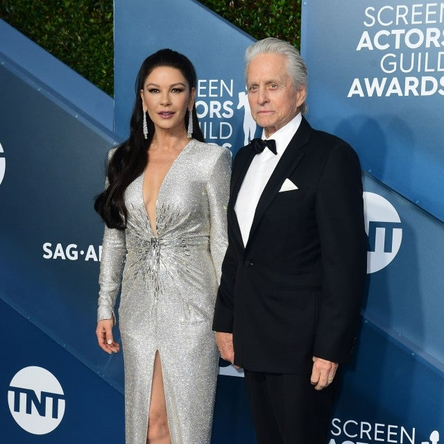 catherine zeta jones michael douglas 2020 sag awards