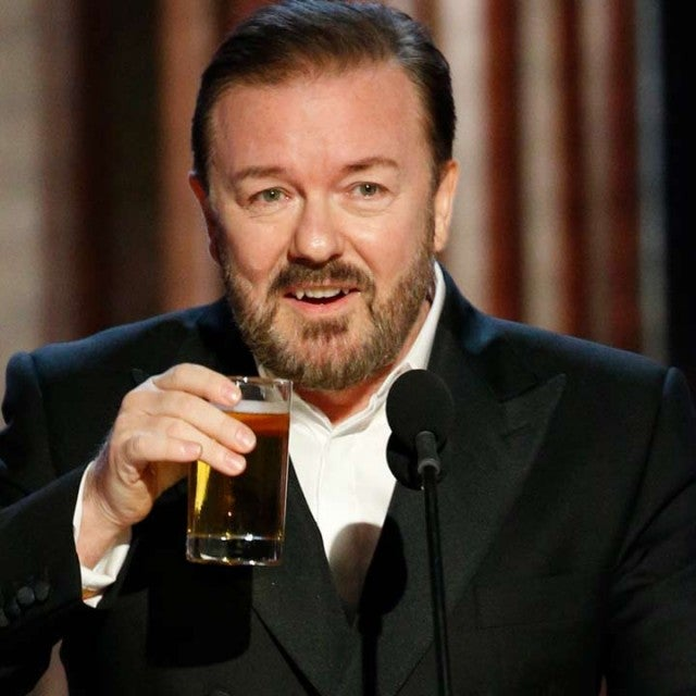Ricky Gervais hosts the 2020 Golden Globes