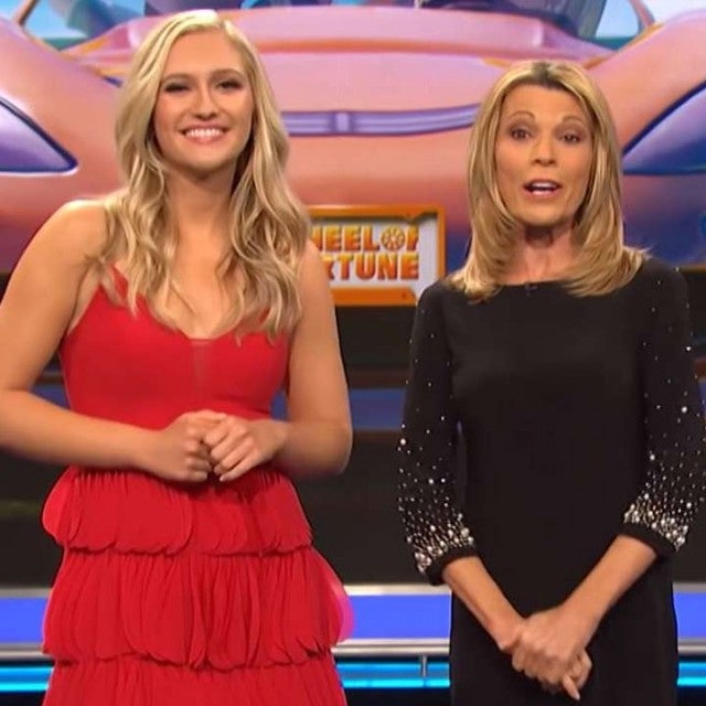 Maggie Sajak and Vanna White on 'Wheel of Fortune'