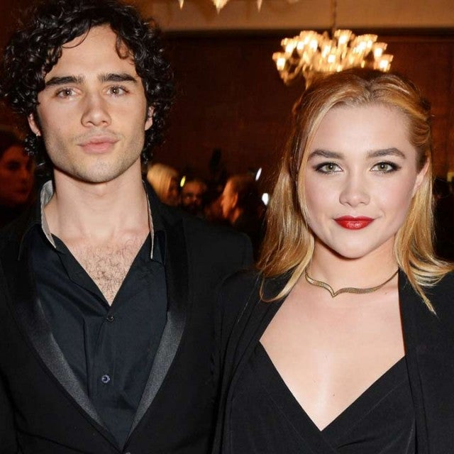Toby Sebastian and Florence Pugh attend The London Critics' Circle Film Awards in 2015