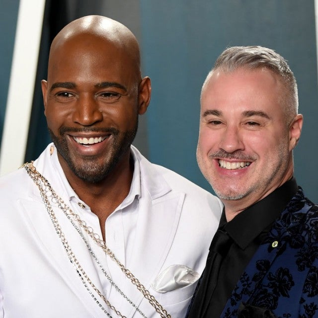 Karamo Brown and Ian Jordan at the 2020 Vanity Fair Oscar Party