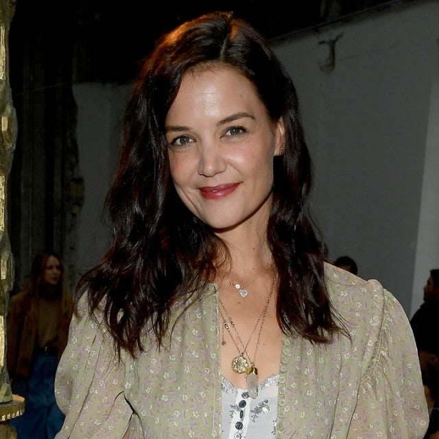 Katie Holmes at the Chloe show