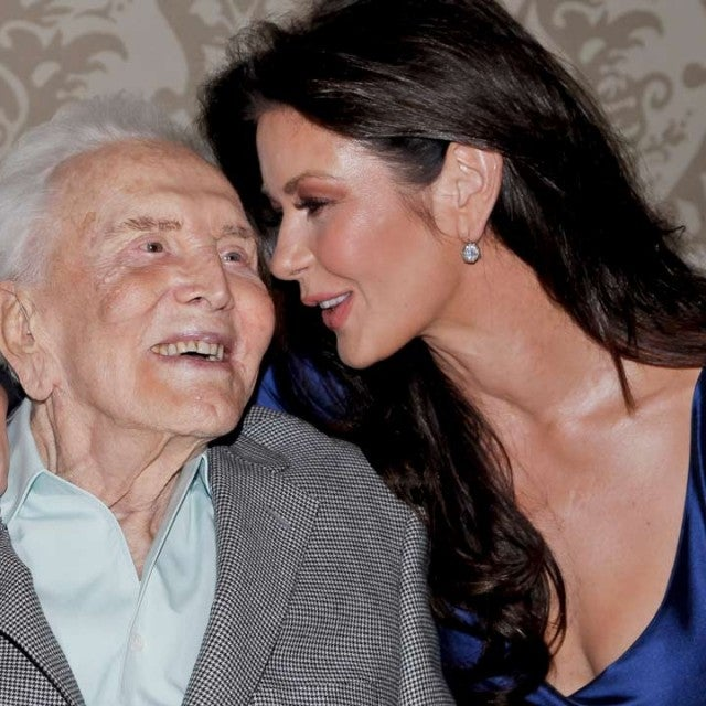 Kirk Douglas and Catherine Zeta Jones