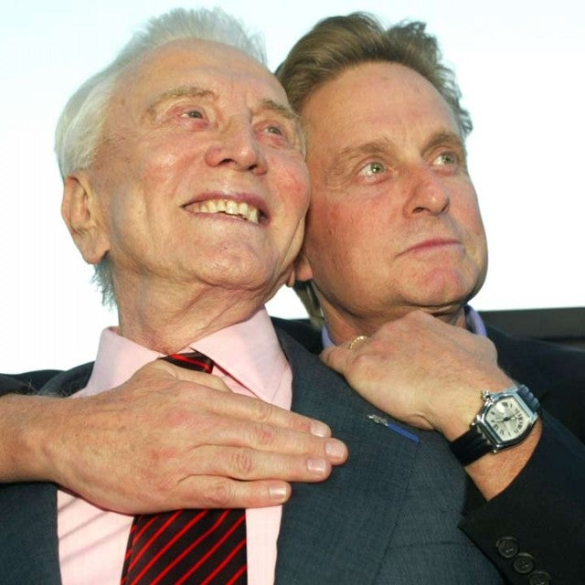 Kirk Douglas and son Michael Douglas